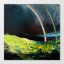 Double Rainbow All The Way Canvas Print
