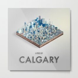Piece Of Calgary Isometric Art Metal Print