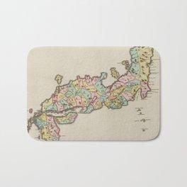 Vintage Map of Japan (1665) Bath Mat