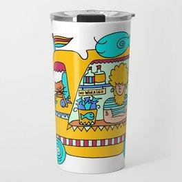 fish and chips food truck cool dude Travel Mug