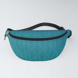 Wave pattern in teal Fanny Pack