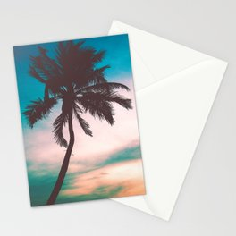 Tropical Palm Tree Sunset Stationery Cards