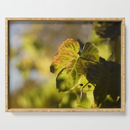 Autumn Grape Leaf Serving Tray