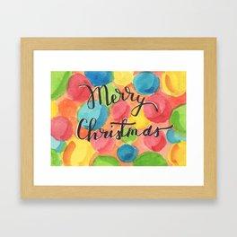 A Cheery, Merry Christmas! Framed Art Print