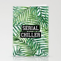 tupac Stationery Cards featuring Serial Chiller by Text Guy