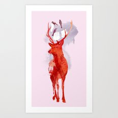 Useless Deer Art Print