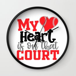 My HeartIs On That Court Wall Clock
