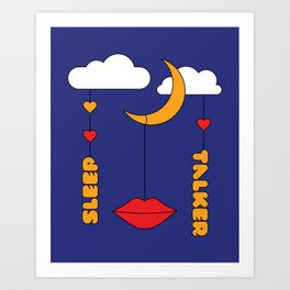 Sleep Talker Art Print