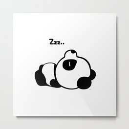 Sleeping Baby Panda Kawaii AWWW! Metal Print