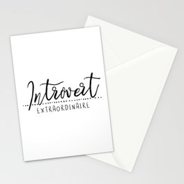 Introvert Extraordinaire Stationery Cards