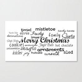 Christmas Word Play Canvas Print