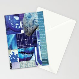Collage - Just Blue Stationery Cards