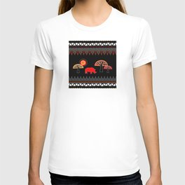 African Rhino (Hot colors) - by Kara Peters T-shirt