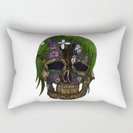 Plant Skull Rectangular Pillow