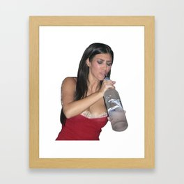 Lit Kim Framed Art Print