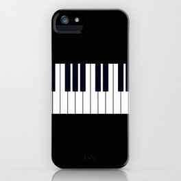 Piano Keys - Black and white simple piano keys pattern minimalistic music themed artwork iPhone Case