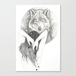 WolfMoon Canvas Print