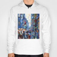 city Hoodies featuring City by Emma Reznikova