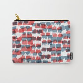 Red and Blue short brushstrokes - Sarah Bagshaw Carry-All Pouch