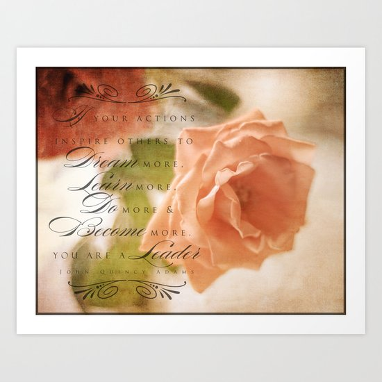 Beautiful Leader Art Print