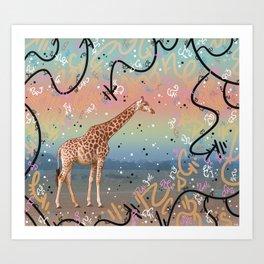 Great Little Giraffe Art Print