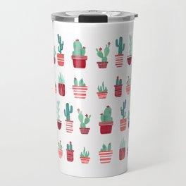 Pink Cacti Travel Mug