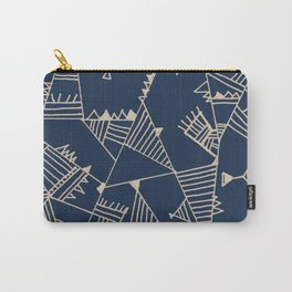 Fill With Authentic Geo Blue Carry-All Pouch