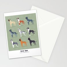 Great Danes Stationery Cards