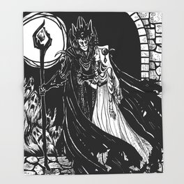 Hades and Persephone Throw Blanket