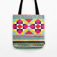 ethnic Tote Bags featuring Ethnic by Maria Blanco