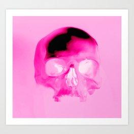 Magenta Skull Art Print