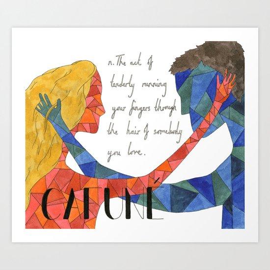 Cafuné Art Print