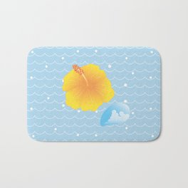 Hibiscus and Thunderhead reflected on the wave_Y Bath Mat