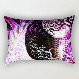 Purple Opposition Rectangular Pillow