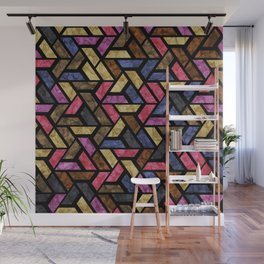 Seamless Colorful Geometric Pattern XIII Wall Mural