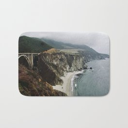Bixby Bridge and Beach, CA Bath Mat
