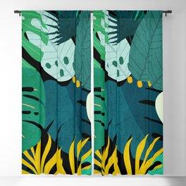 Tropical Jungle Leaves Blackout Curtain