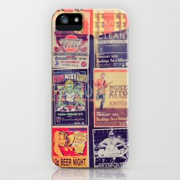 Concert posters iPhone Case