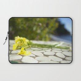 Sunlit St Tropez Flowers Laptop Sleeve