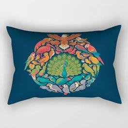 Aerial Rainbow Rectangular Pillow