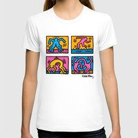 keith haring T-shirts featuring Keith Haring Pop Shop Quad by cvrcak