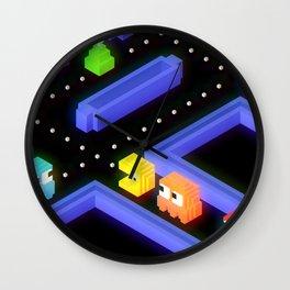 Pac-Man trixels  Wall Clock