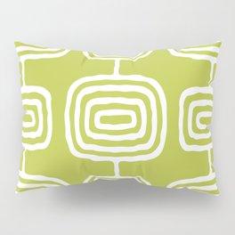 Mid Century Modern Atomic Rings Pattern 771 Green Pillow Sham