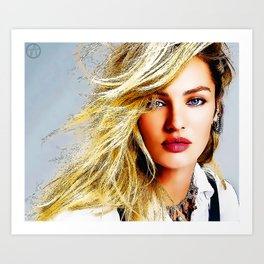 Candice Swanepoel Art Print