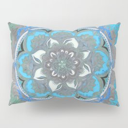 Mint Green, Blue & Aqua Super Boho Medallions Pillow Sham