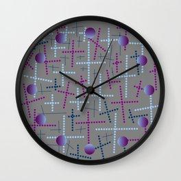 Croisement violet gris Wall Clock