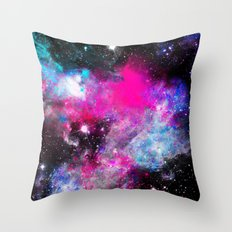 Space Paint Throw Pillow