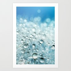 Powder Blue Drops Art Print