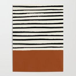 Burnt Orange x Stripes Poster