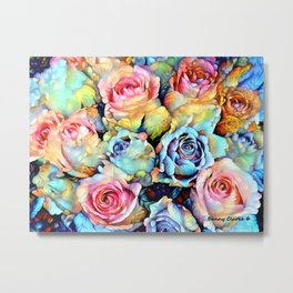 For Love of Roses Metal Print